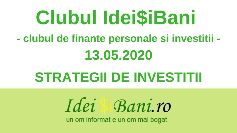 Clubul IdeiSiBani 13.05.2020