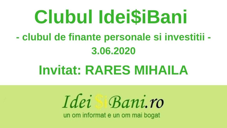 Clubul IdeiSiBani - 3.06.2020