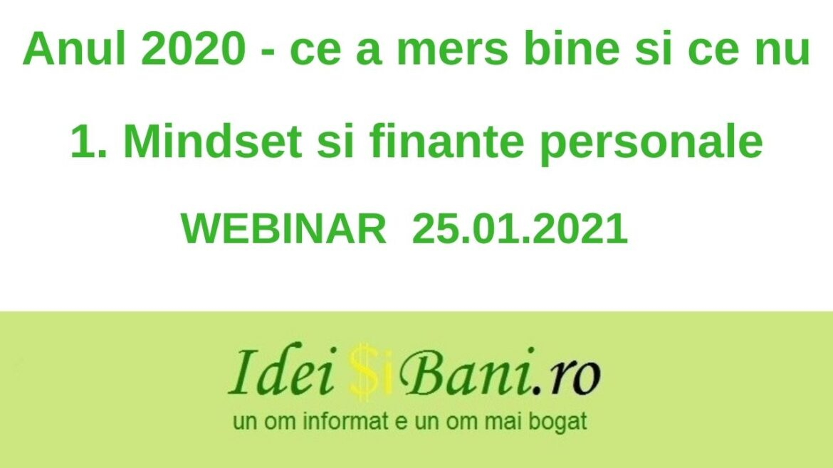 Anul 2020 Mindset si finante personale