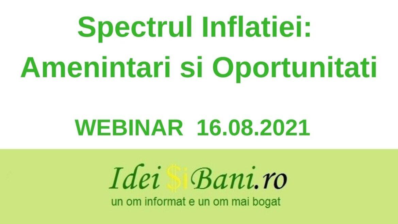 Spectrul inflatiei - amenintari si oportunitati